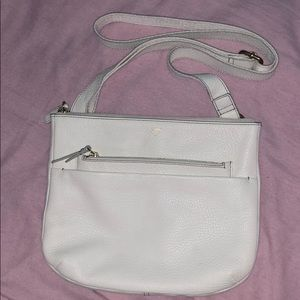 NWOT Fossil White Pebble Leather Crossbody